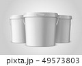 Vector Realistic 3d White Plastic Bucket Set for Food Products, Paint, Foodstuff, Adhesives, Primers 49573803