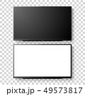 Vector 3d Realistic White Blank TV Screen Set. Modern LCD LED Panel Set Closeup Isolated on 49573817