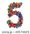 数字 5 五のイラスト 49574829