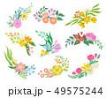 花 植物画 フローラルのイラスト 49575244