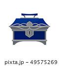 アンティーク ブルー 青のイラスト 49575269