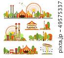 Amusement park circus set 49575337
