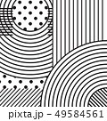 Abstract Monochrome Background, Curve Lines Vector 49584561