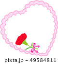 母の日メッセージカード ハート カーネーション 49584811