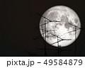 full crow moon back on silhouette atenna on night 49584879