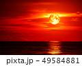 full blood moon on sea and ocean last light red 49584881