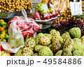fresh several fruits on street food in rural of 49584886