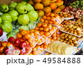 fresh several fruits on street food in rural of 49584888