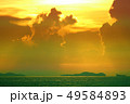 colorful of sunset ray on silhouette cloud fishing 49584893