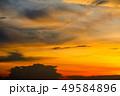 blurred sunset heap cloud in tropical red orange 49584896