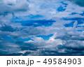 blur white heap cloud sunshine in summer  blue sky 49584903