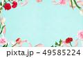 背景-カーネーション-母の日-ブルーーストライプ-フレーム 49585224