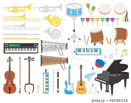 楽器のイラストセット 49586538