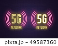 Neon composition set of 5G network technology 49587360