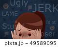 いじめっ子 少女 かなしいのイラスト 49589095