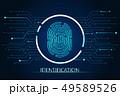 scan fingerprint biometric identity concept 49589526