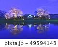 千葉県、小湊鉄道飯給駅の桜ライトアップ 49594143