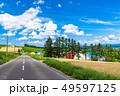 《北海道》上富良野・一本道と夏の空 49597125