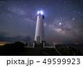 伊豆半島下田爪木崎灯台と天の川 49599923