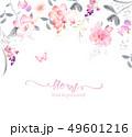 透明水彩 水彩画 花のイラスト 49601216