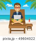 PC ノートパソコン ビジネスマンのイラスト 49604022