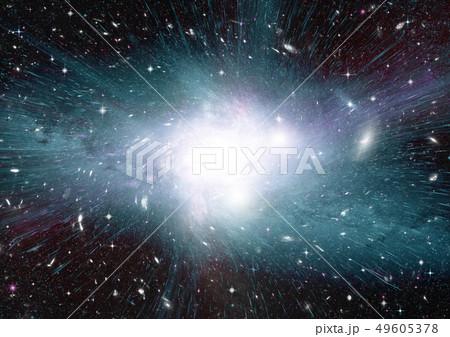 Stars, dust and gas nebula in a far galaxy 49605378