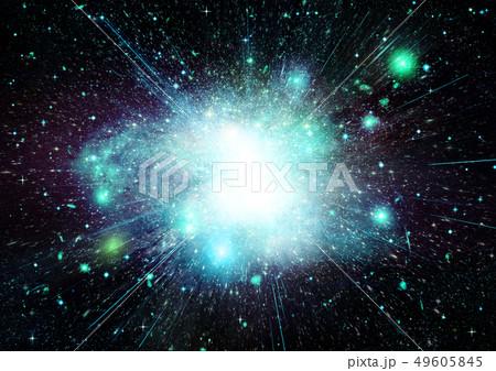 Stars, dust and gas nebula in a far galaxy 49605845