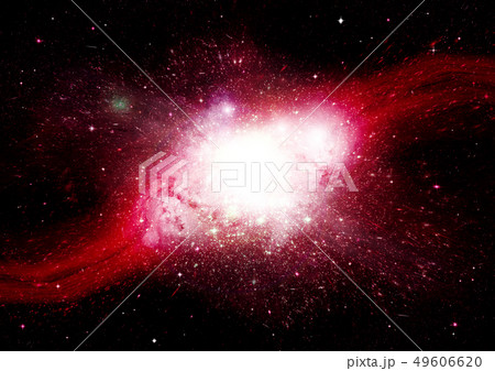 Stars, dust and gas nebula in a far galaxy 49606620