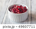 Bowl of cranberry sauce 49607711