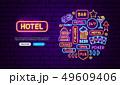 カジノ カジノの ネオンのイラスト 49609406