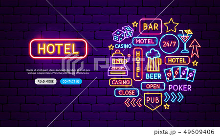 Street Signs Neon Banner Design 49609406