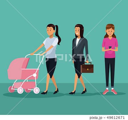 Women in routine day 49612671