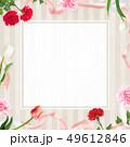 背景-カーネーション-母の日-ベージュ-フレーム 49612846