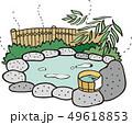 ベクター 温泉 露天風呂のイラスト 49618853