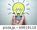 良い解決策のイメージ。電球が描かれたジグソーパズルを解く。 49619118
