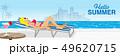 夏 リゾート プールのイラスト 49620715