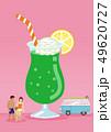 夏のバカンスイメージ メロンフロートソーダ - コピースペースあり 49620727