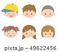 子供 アイコン 女の子のイラスト 49622456