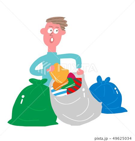 物を捨てる男性 49625034