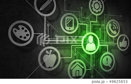 Social media communication 49625653