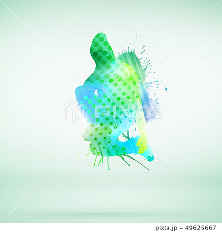 Dancer silhouette 49625667