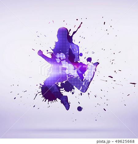 Dancer silhouette 49625668