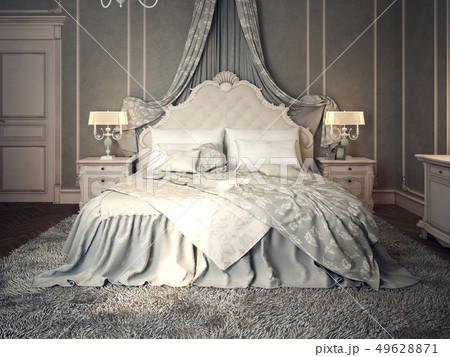 Classic bedroom interior 49628871