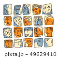 People abstract faces avatars characters icons set 49629410