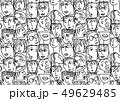 People abstract faces avatars characters black and white seamless pattern 49629485
