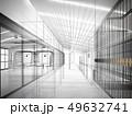sketch design of interior hall, 3d rendering 49632741