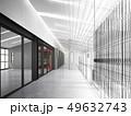 sketch design of interior hall, 3d rendering 49632743