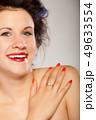 ヘアスタイル カーラー 女の写真 49633554