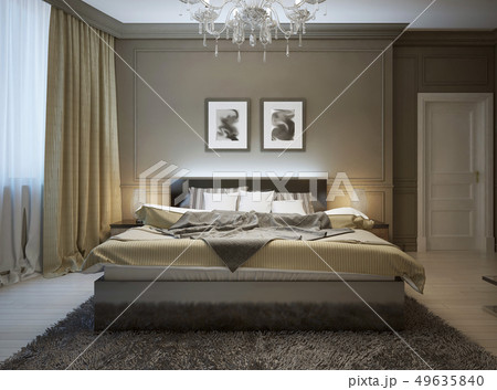 Bedroom interior in modern style 49635840