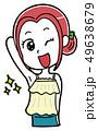脱毛 女性 ビューティーのイラスト 49638679